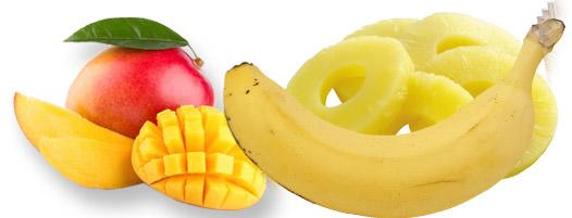 Mango ananas banana smuti - Kuhinja antioksidans. Ovaj smuti pored bogatsva boja i ukusa nudi veliku pomoć vašoj lepoti, energiju, kardio i imuno zdravlju.