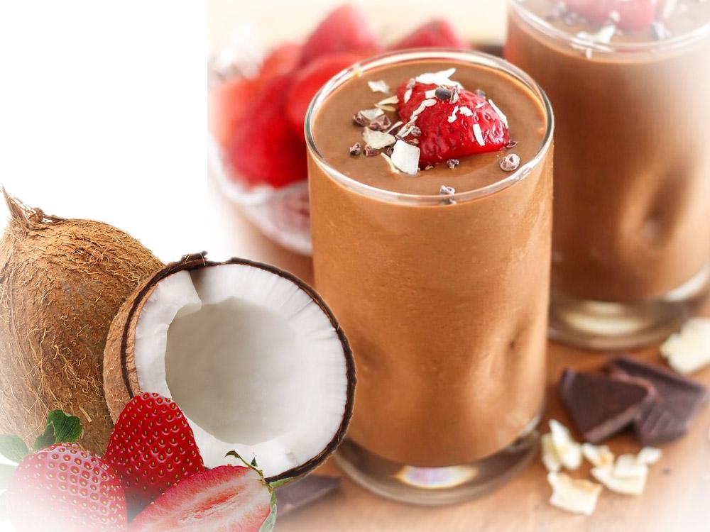 Jagoda čokolada milkšejk