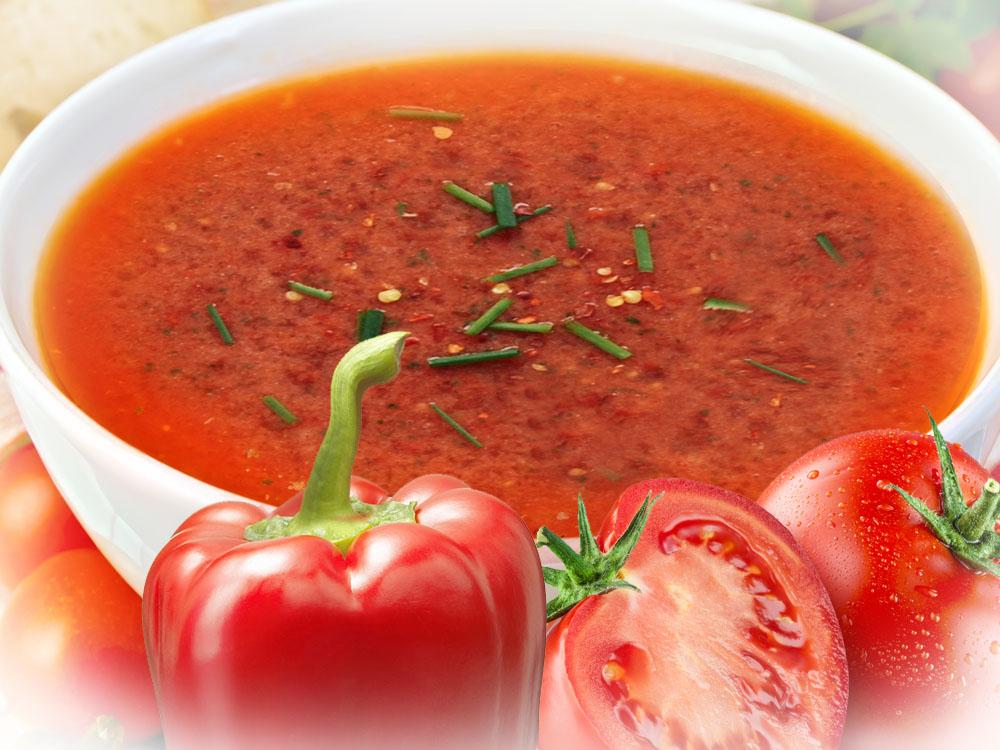 Začinjena paprika paradajz supa