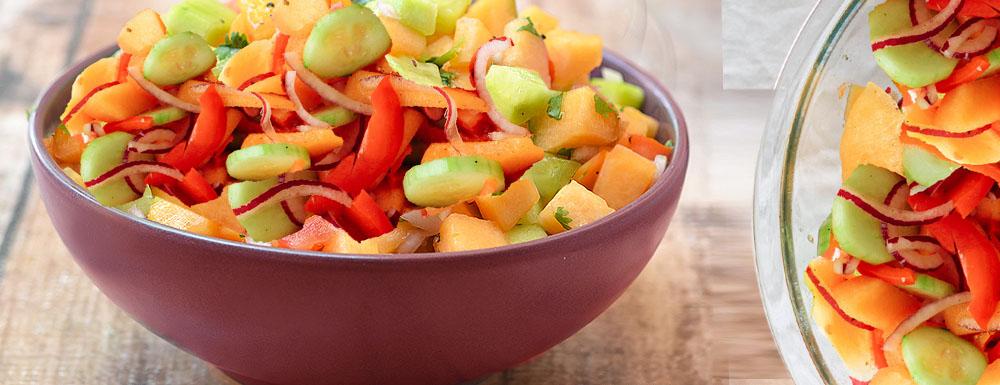 Dinja krastavac salata